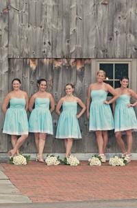 Strapless White Crochet Lace Hem Dress